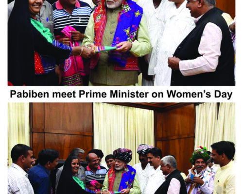 Pabiben Meets PM on Women's Day