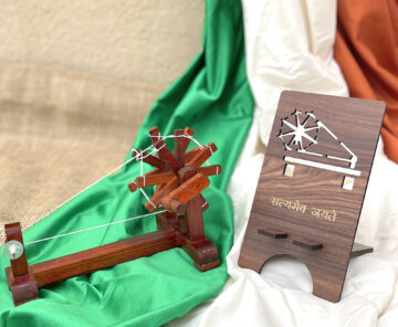 Mobile Stand with miniature charkha